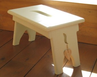 Hand painted shaker style stool