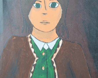 "Large Canvas Painting ""Amnesia The Dark Descent: Daniel"""