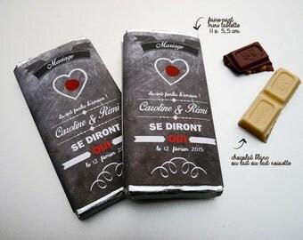 invitation wedding mini chocolate