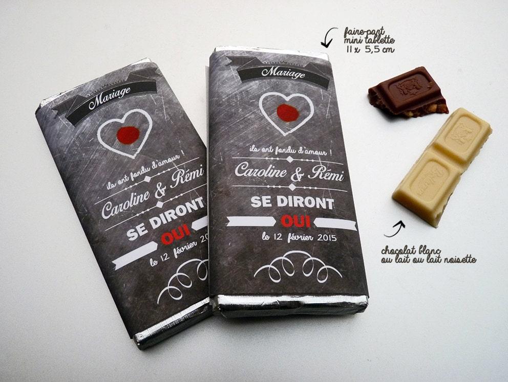 Bevorzugt faire-part mariage mini tablette chocolat BQ04