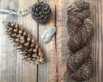 Hand Spun Brown Marled Shetland Yarn