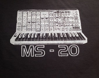 Korg MS-20 t shirt screen printed onto 100% cotton Fruit of the Loom