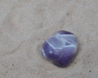 Banded Amethyst Stone Magnet