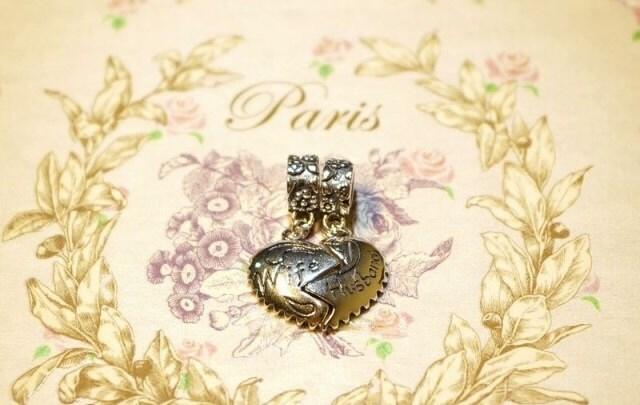 Pandora dangle charm wife and husband split heart