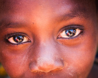 Windows to the African Soul...  -  *Canvas Printed
