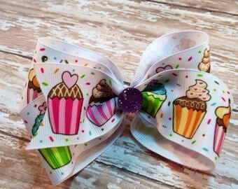 Cute Cupcakes Boutique Hair Bow