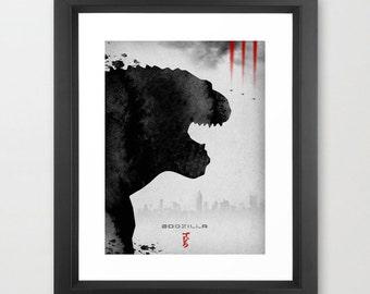 Godzilla Poster inspired by Japanese Kaiju movie