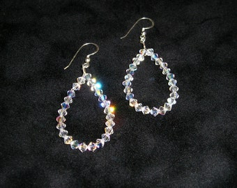 Swarovski Crystal Drop Earrings - Sterling Silver