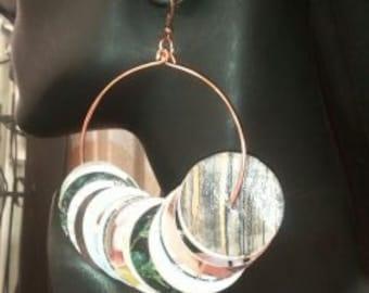 Magazine Hoop Style Earrings