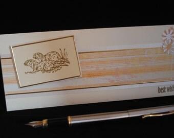 Handmade Embossed Otter Card