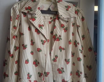 strawberry suit from 1970s 3 piece!!