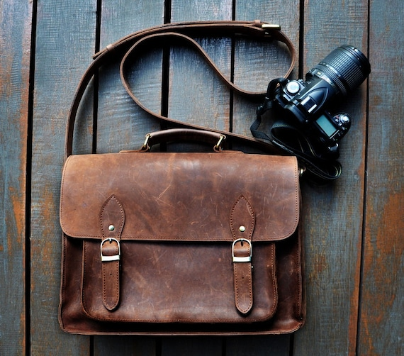 Leather Camera Shoulder Bag 67