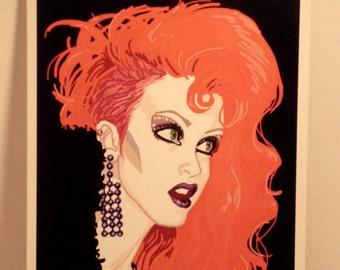 Original Cyndi Lauper color print