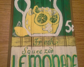 Vintagel Lemonade Sign