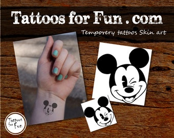 Mickey mouse temporary tattoo choose your pack disney for Disney temporary tattoos mickey mouse