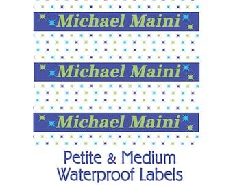 Splatter Waterproof Name Labels -This Belongs to: School Name Labels, Personalize Labels