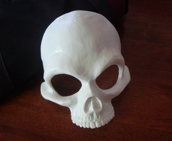 Human Skull Half Mask Blank by RedNebulaCosplay on Etsy
