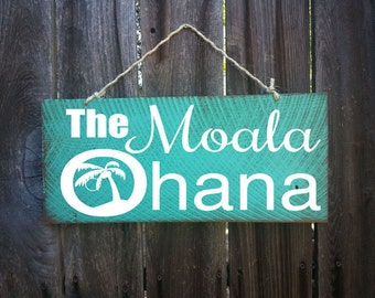 personalized ohana sign, personalized family sign, personalized Hawaiian decor, Hawaii, Hawaiian sign, beach signs, family signs