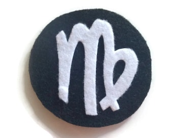 Virgo Zodiac Iron On Patch - No Sew - Felt - You Pick the Colors
