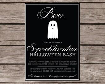 Halloween party invitation - Boo