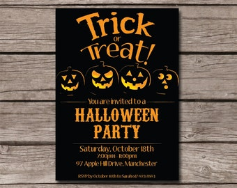 Halloween party invitation - Trick or Treat