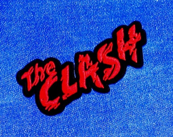 "Vintage 1980's ''The Clash"" Embroidered Iron -On Patch"