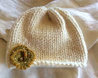 Natural Knit Baby Hat