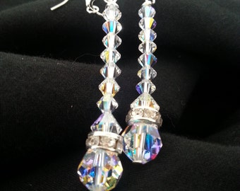Perfect for any special occasion! Swarovski crystal dangle earrings