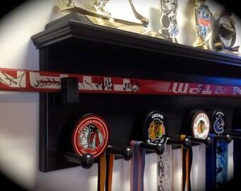 Hockey and Lacrosse - Trophy & Awards Display Shelf (Sports Display Shelf)