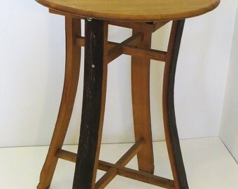 """Stave Oak Wood Bistro Table, 20""""W x 30""""H, SBT-30"""