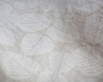 leaf patterned contemporary Neutral natural Beige Taupe Upholstery fabric gorgeous! 8 yards available