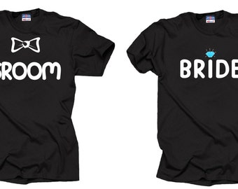 Groom and Bride T-shirt Wedding Tees