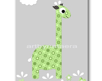 Giraffe Nursery Print Printable Wall Art Baby Nursery Decor Printable Decor Baby Boy Nursery Art Digital Print 8x10 11X14 INSTANT DOWNLOAD