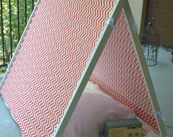 Red and White Chevron Children's Play Tent