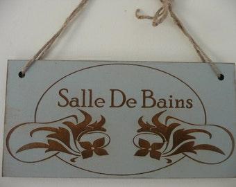 French bathroom etsy for Salle de bain art nouveau