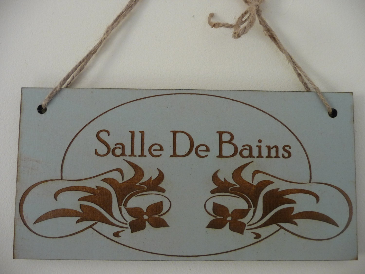 bathroom sign salle de bains sign french bathroom door sign