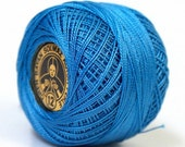 Blue Crochet Thread Size 12 100% Cotton Oren Bayan Brand Dark Dodger Blue