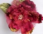 Cabbage Rose Antique Rose by Miss Rose Sister Violet. rose. velvet rose. millinery rose. hat rose