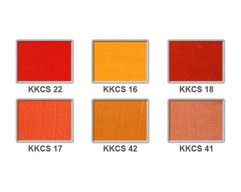 Cotton silk - oranges and reds 5 pounds per metre