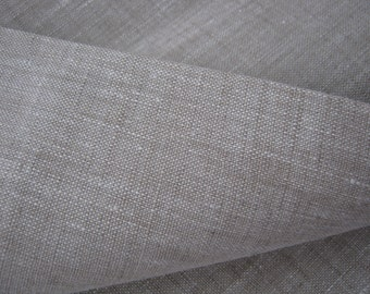 Wide Linen Fabric Oatmeal 100% Pure Flax Cloth Width 87 Inch Medium Weight ECO-friendly by the yard