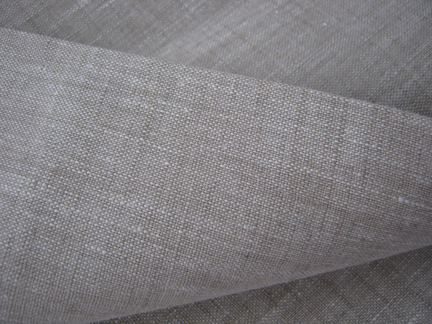 Wide Linen Fabric Oatmeal 100 Pure Flax Cloth Width 87 Inch