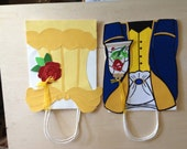 """Fairytale Princess Handmade paper crafts Beauty and the Beast inspired 7.875"""" x 4.25"""" x 10.25"""" (price per bag, not a set)"""