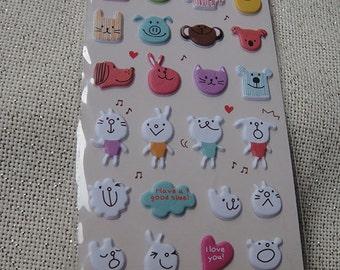 My Lovely Little Friends- Japanese/ Korean Puffy Sticker/korean stickers/cute sticker