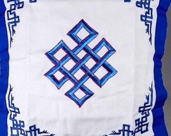 COVER CUSHION BUDDHA, endless, Buddhist symbol node hc3