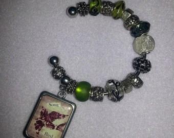 Beaded Cuff Bracelet - Song Bird