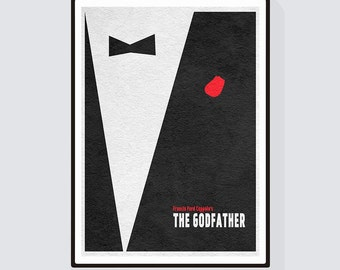 The Godfather Minimalist Alternative Movie Print & Poster