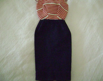 Vintage Barbie Cruise Stripes with an R label