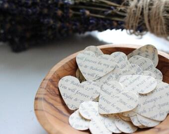 200 Personalised Confetti Hearts