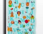 ABC Animals nursery Print