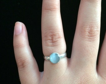 Cat's Eye Silver Ring